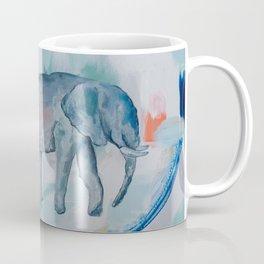 Mother and Baby Elephant Coffee Mug