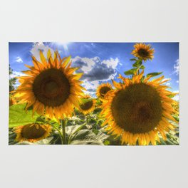 Sunflowers Of Summer Rug