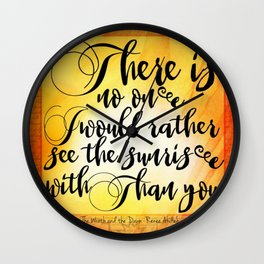 the wrath and the dawn v2 Wall Clock