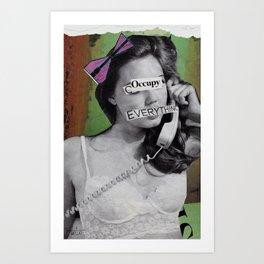 Occupie Art Print