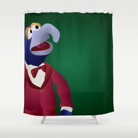 muppets Shower Curtains featuring Gonzo the Great - Muppets Collection by Bryan Vogel