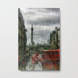 Rainy Days in London Photography Metal Print