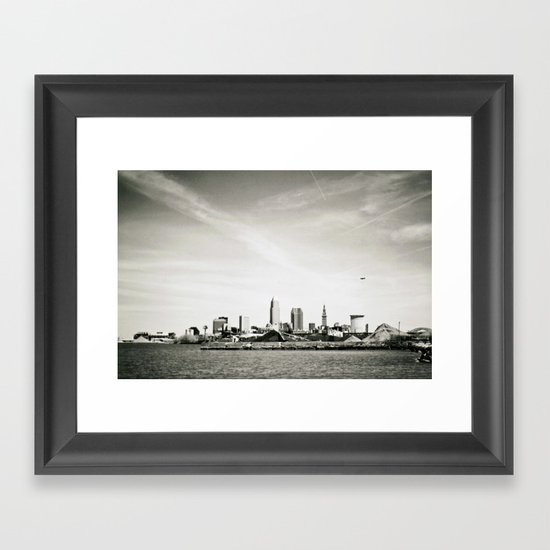 Cleveland from the West Framed Art Print