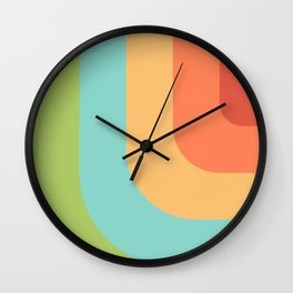 Vintage pastel pattern Wall Clock