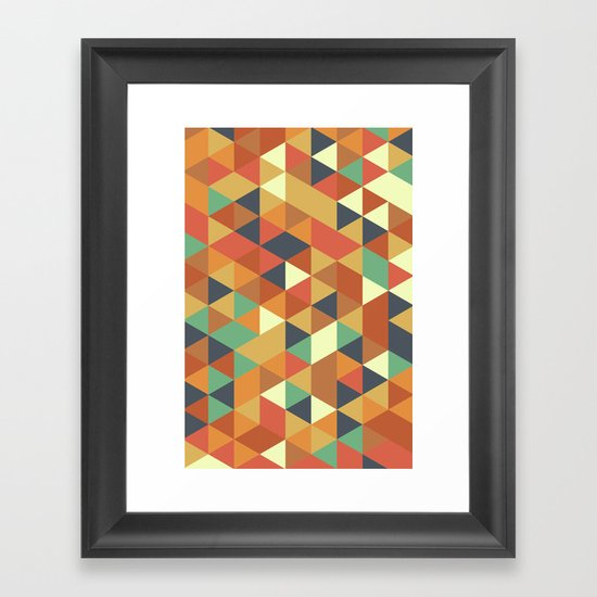 Triangle Pattern II Framed Art Print