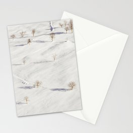 White Winterscapes I Stationery Cards