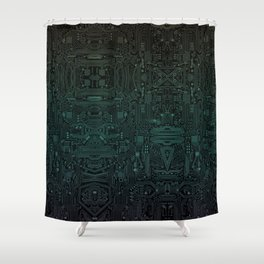 Circuitry Details Shower Curtain
