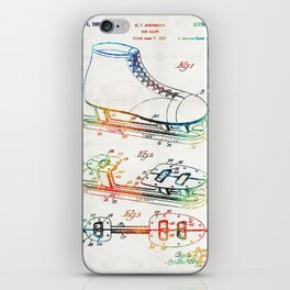 Ice Skate Patent - Sharon Cummings iPhone Skin