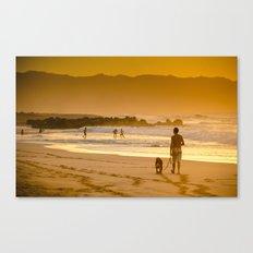 Hawaiian Beach Sunset Canvas Print