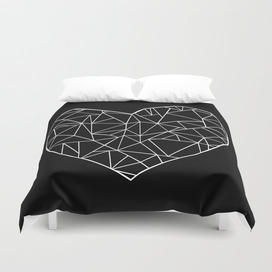 Abstract Heart Duvet Cover