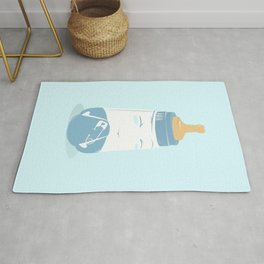 Baby bottle with diaper Rug