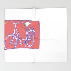 bicycle Throw Blanket