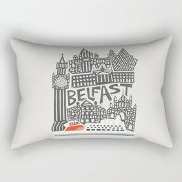 Belfast Cityscape Rectangular Pillow