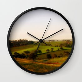 Morning shadows over the Alpine Ranges Wall Clock