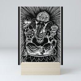 Ganesh: White Mini Art Print