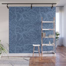 Ferning - Blue Wall Mural