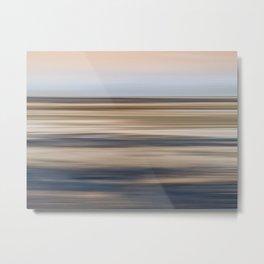 Abstract Shore Line Metal Print