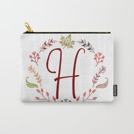 Floral H letter Carry-All Pouch