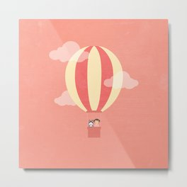 In A Hot Air Balloon Metal Print