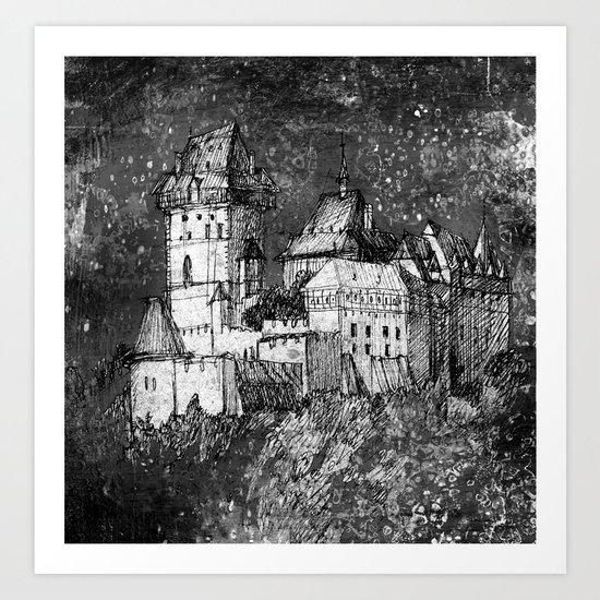 night castle Art Print