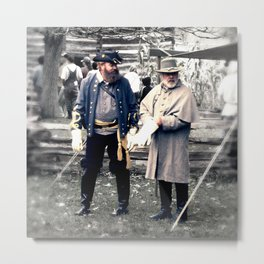 Civil War Reenactment Metal Print