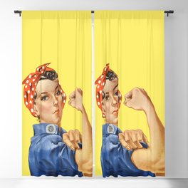 We Can Do It - Rosie the Riveter Poster Blackout Curtain
