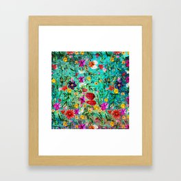 Old Chintz Framed Art Print