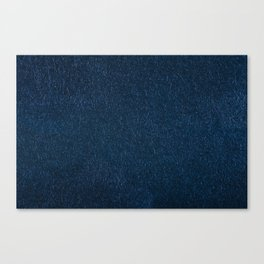 Navy fibrous texture abstract Canvas Print