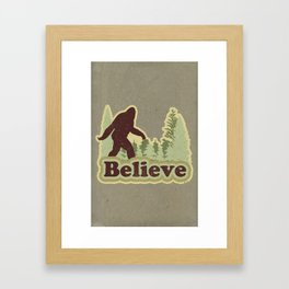 Bigfoot Believe Framed Art Print