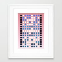 code Framed Art Prints featuring Code by Bringerzl