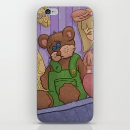 Corduroy: The Buttonless Bear iPhone Skin