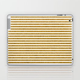 Gold Glitter Stripes Laptop & iPad Skin