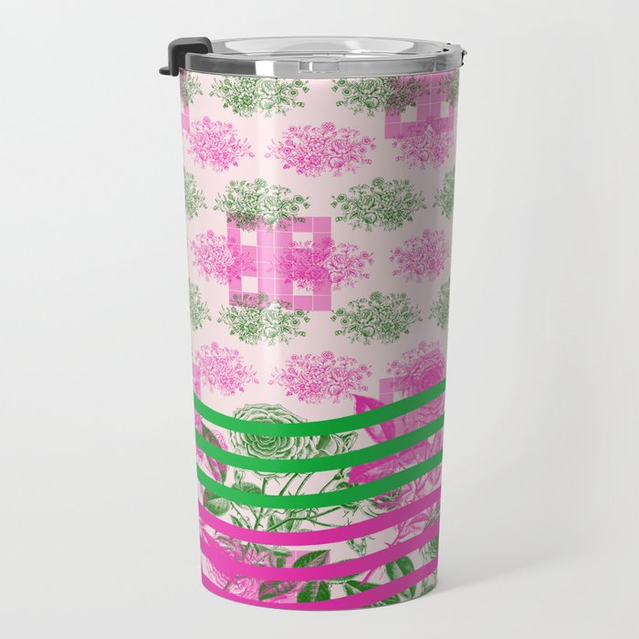 Abstract Roses Travel Mug