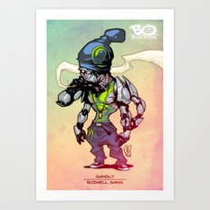 Roswell gang - Gangly - Villains of G universe Art Print