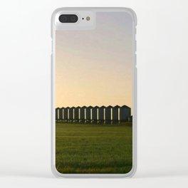 Wheat Silos Clear iPhone Case