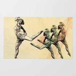 Vintage Made Modern: Dancing Abstract Woman Rug