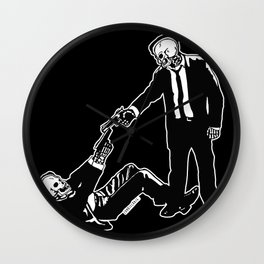 Mr White & Mr Orange Wall Clock