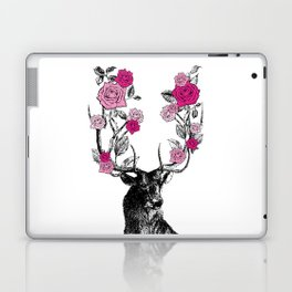 The Stag and Roses   Pink Laptop & iPad Skin