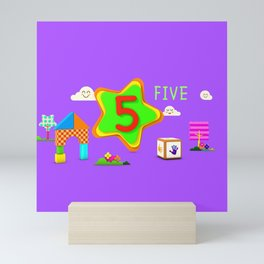 Number five - Kids Art Mini Art Print