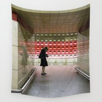 notebook Wall Tapestries featuring Taking Notes on the Subway by photographyk