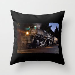 UP 4014. Union Pacific.  Steam Train Locomotive. Big Boy. © J. Montague. Throw Pillow