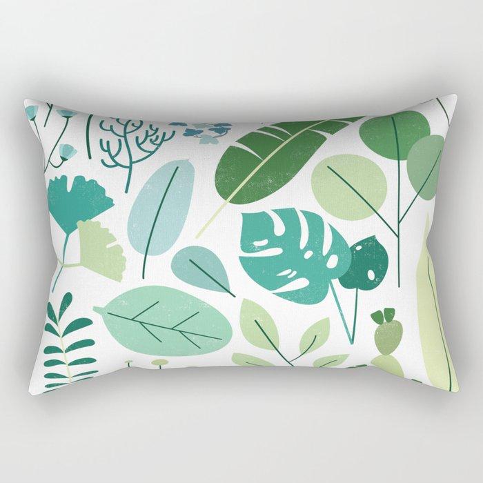 Botanical Chart Rectangular Pillow