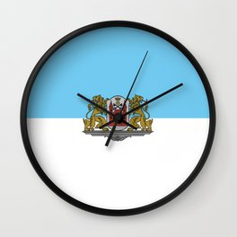 flag of Riga Wall Clock
