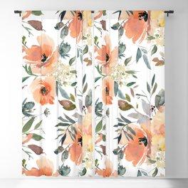 Peachy Keen Pattern Blackout Curtain