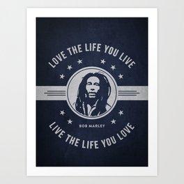 Marley - Blue Art Print