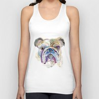 bulldog Tank Tops featuring Bulldog by coconuttowers