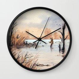 Setting The Decoys I Wall Clock