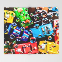 AJKG *Toy Cars + Drops* Throw Blanket