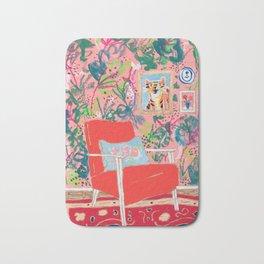 Red Chair Bath Mat