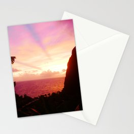 St Lucian Sunset Stationery Cards